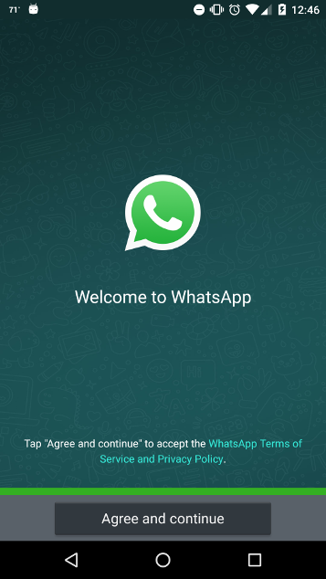 Whatsapp login using phone number
