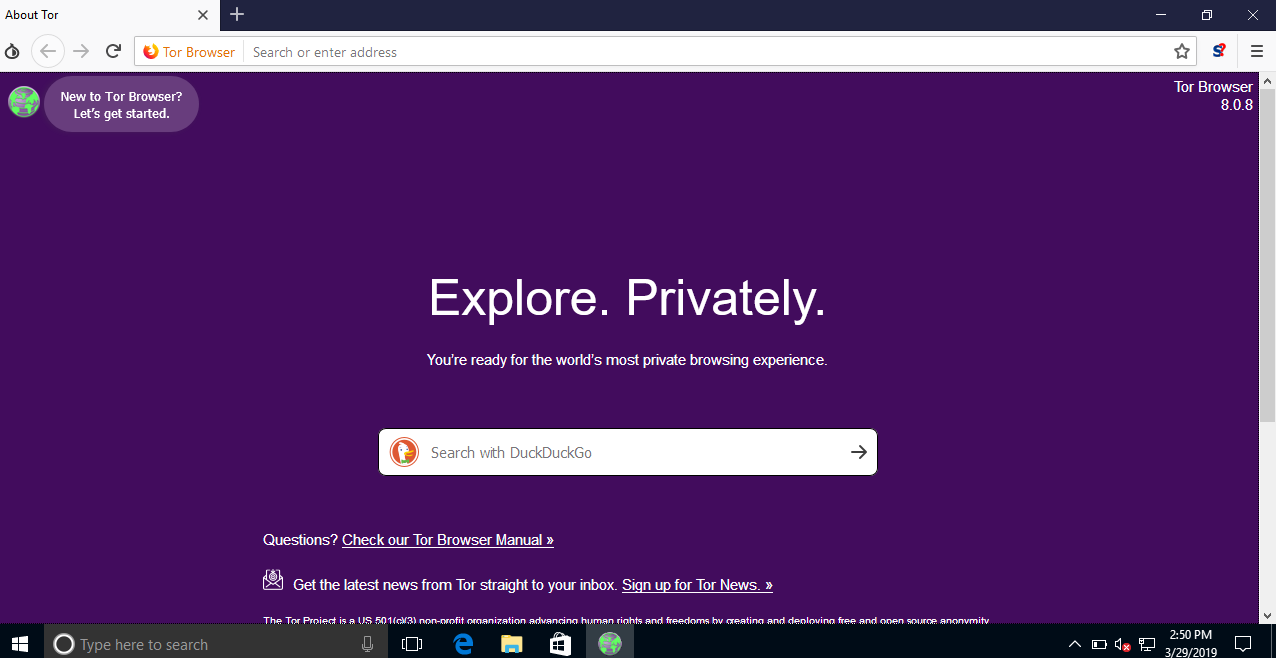 Configure Tor Browser